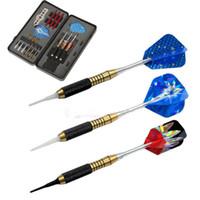 Darts aluminum dart shafts - Professional Brass DARTS SET Dart Stems Aluminum Flights Shaft Steel Tip Case
