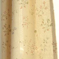 Wholesale Fresh linen Korean printing curtain factory direct semi shade bedroom curtain fabric selling custom