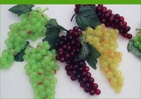 decorative fruit - Novelty Idyllic Decorative Simulation Grapes Artificial Grapes Fruits Large Grapes For Home Living Room Ornaments