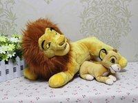 baby simba plush - high quality Cartoon animation The Lion King lion old samba and baby simba Plush toy Simba Plush toys