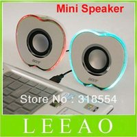 apple shaped mini speaker - Apple Shaped USB Powered Multimedia Speakers loudspeaker Speaker For PC Laptop Mp3 Phones p0645