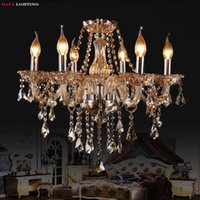 Wholesale Fashion ceiling chandelier light living room lamps bedroom lamp candle crystal lighting ceiling Chandelier Lights