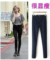 Wholesale Europe and the United States to restore ancient ways of tall waist height show thin package hip stretch tight jeans and feet pants