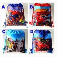 big drawstring bag - Retail styles big hero6 drawstring bags baymax backpacks handbags children school bags kids shopping bags present