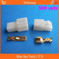 electrical plugs and sockets - 500 sets mm Way pin Electrical Connector Male and Female socket plug for Motorcycle Car