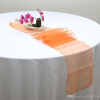 Wholesale New Table Runner Pieces quot x108 quot Organza Wedding Table Runners Party Supply Decorations Kinds of Color