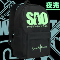 art school online - Sword Art Online Cosplay Backpack Anime SAO Nylon School Bag Unisex