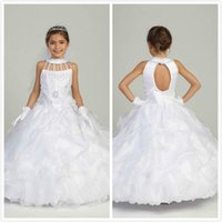 beautiful designer wedding gowns - Designer Floor Length Flower Girl Dresses Beautiful Crew Neck With Beads Hollow Ball Gown Pageant Dresses Beaded Sparkling Flowergirl Gowns