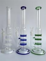 blown glass - 2015 glass bongs glass Bubbler hand blown glass bongs water percolator three honey comb disk joint with18 mm