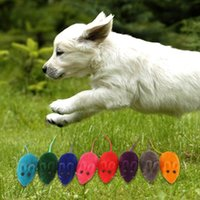 Wholesale Practical Pile Coating Soft Rubber Mouse Pattern Phonate Pet Toy for Teeth Free of Shipping