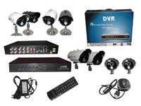 Wholesale by DHL DVR kit channel H D1 CIF real time video fps play IR camera sn EC kit_02 min