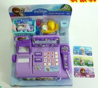Wholesale hot sale NEW Voice glowing Hot Selling frozen Multi function cash register Play educational toys