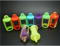 Wholesale Colorful Eliquid Bottles Soft Pouch Silicone Case Protective Case Fit Liquid Bottle E Cigarette Rubber Sleeve Protective Cover DHL Free
