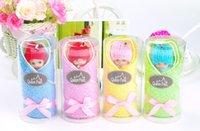 al por mayor barbie towel-Banquete de boda Decoraciones suministra toalla linda torta de Barbie Bobbi 20 * 20 cm 100% algodón toalla de la ducha del bebé favorece regalos envío libre