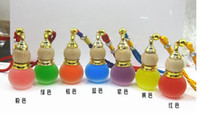 Wholesale Essential Oil Perfume Bottle Empty Glass Chinese gourd pendant car pendant car hanging Ornament