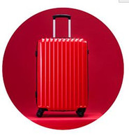 Wholesale bromen Trolley theft zipper luggage suitcase caster mirror password Trolley Hard luggage inch Red