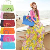 big lots shop - 2015 wholesalel Womens Summer Weave Woven Straw Shoulder Tote Shopping Beach Big Bag Handbag styles