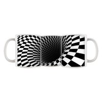 area advertising - Abstract Black Hole Customized Design Coffee Mug Tea Cup OZ Office Home Cup Advertising Mugs Round Printing Area