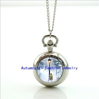 antique post lamps - Lucy and Lamp Post Pocket Watch Photo Locket Necklace Silver Style Retro Vine Pocket Watch Necklace WT