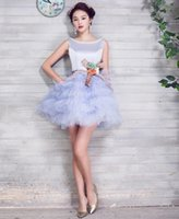 Wholesale sexy womens minidress scoop sleeveless beading stack feather ornament cocktail dress formal party dress