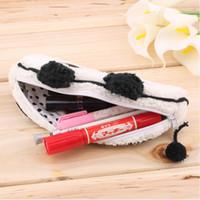 Wholesale Hot Worldwide Cute Soft Plush Panda Pencil Pen Card Case Cosmetic Notebook Makeup Bag Pouch