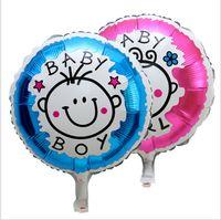 age balloons - inch aluminum film aluminum foil balloon boy girl Bao Baosheng days age party decorate cartoon