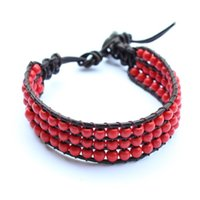 Wholesale piece leather bracelet high quality casual knit lovers knit bracelet fashion jewelry factory price