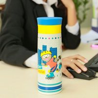 Ceramic baby bottle pictures - Thermos Cup Cartoon Picture Pattern child Thermo cups drinkware Travel water bottle baby Stainless Steel Thermoes flask Lovely