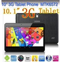 moins cher 10 pouces MTK6572 Dual Core 1.2Ghz Android 4.2 WCDMA 3G Phone Call tablet pc bluetooth GPS Wifi double caméra avec 2 Emplacement pour carte SIM