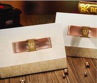 Wholesale Hot Sale Marvelous Light Wedding Invitation Champagne Golden Free Personalized Customized Printing Wedding Invitations Cards Custom