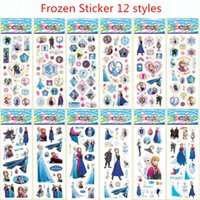 baby book classics - Frozen cartoon stickers styles for decoration book Stickers ELSA ANNA classic toys for children baby toy