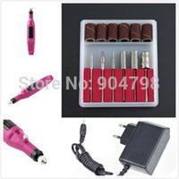 Wholesale 1Set RPM Professional Nail Drill Machine Art Salon Manicure File nail tools Polish Pen Pedicure EU Plug