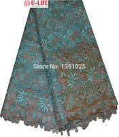 Wholesale Newest high quality africa swiss cord lace fabric for fashion dress bicolor african guipure stone lace fabric W2