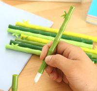 Wholesale A07 creative stationery fresh green bamboo bamboo gel pen gel pen