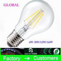 led candle light bulb - Super Bright E27 B22 Led Filament Bulbs Light Angle A60 Led Lights Edison Lamp W W W W V CE UL Warranty Year