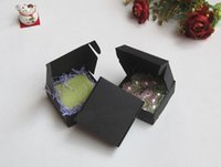 Wholesale 7 x7 x3cm high quality black paper box jewel gift handmade soap box paper packaging box