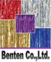 Wholesale 1m m Tinsel Curtain Pub House Portiere Door Curtain Wedding Party Backdrop Stage Background Hanging Stripes LLFA4464F