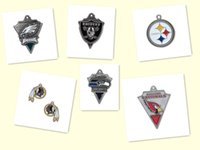 Wholesale Mix Available Rhodium Plated Jewelry Sports Team Football Pendant Charms Accessory