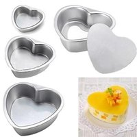 aluminium baking tins - 2015 New Aluminium Heart Shaped Fondant Cake Biscuit Baking Mold Wedding Pan Tins Muffin Christmas Gift LPS