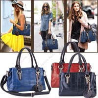 synthetic leather tote - 2015 New Fashion Women s Elegant Bag Synthetic Leather tote Handbag Shoulder Bag cross body Messenger Bags SV009680