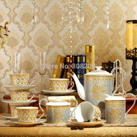 Wholesale classic mosaic Phnom Penh ceramic Continental Coffee Cup and Saucer Set grade English tea gifts
