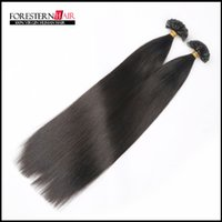Peruvian Hair Black Straight hot selling human hair extensions 1g strands 100g per packs black hair remy hair flat tip hair extensions