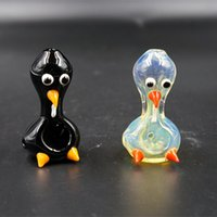 canada - 2015 Canada Hottest Animal Glass Pipes Various Colors Mini Glass Pipe Weed Smoking Bird Shape Oil Rig with Dome Water Pipes