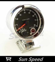 auto gauge rpm - Popular TACHOMETER COLOR DISPLAY BLACK FACE CHROME HOUSING AUTO GAUGE RPM GAUGE