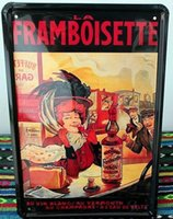 Cheap FRAMBOISETTE Metal Poster Wall Decor Bar Home Vintage Craft Gift Art 20x30CM Iron painting Tin Poster