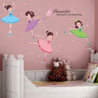 ballerina wall mural - Ballerina Girl Ballet Dancer Gymnastics Sport Wall Art Sticker Decal Home DIY Decoration Wall Mural Removable Decor Sticker