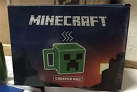 Wholesale New arrived minecraft Creeper JJ coffee cup green Drinkware tumbler tumblerful retail box