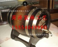 Wholesale Processing of pure stainless steel beer barrel cask pure red wooden horse drawn vehicles cask barrels