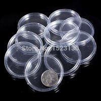 Wholesale 20X Boxed Lighthouse Coin Holder plastic Capsules coin box display cases All Sizes Available Clear Round mm to mm