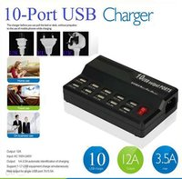 Dock Chargers For LG For UK smart multi-port usb 5V 12 A 10 Ports Wall USB fast Charger Home Travel Power Adapter for iphone ipad samsung